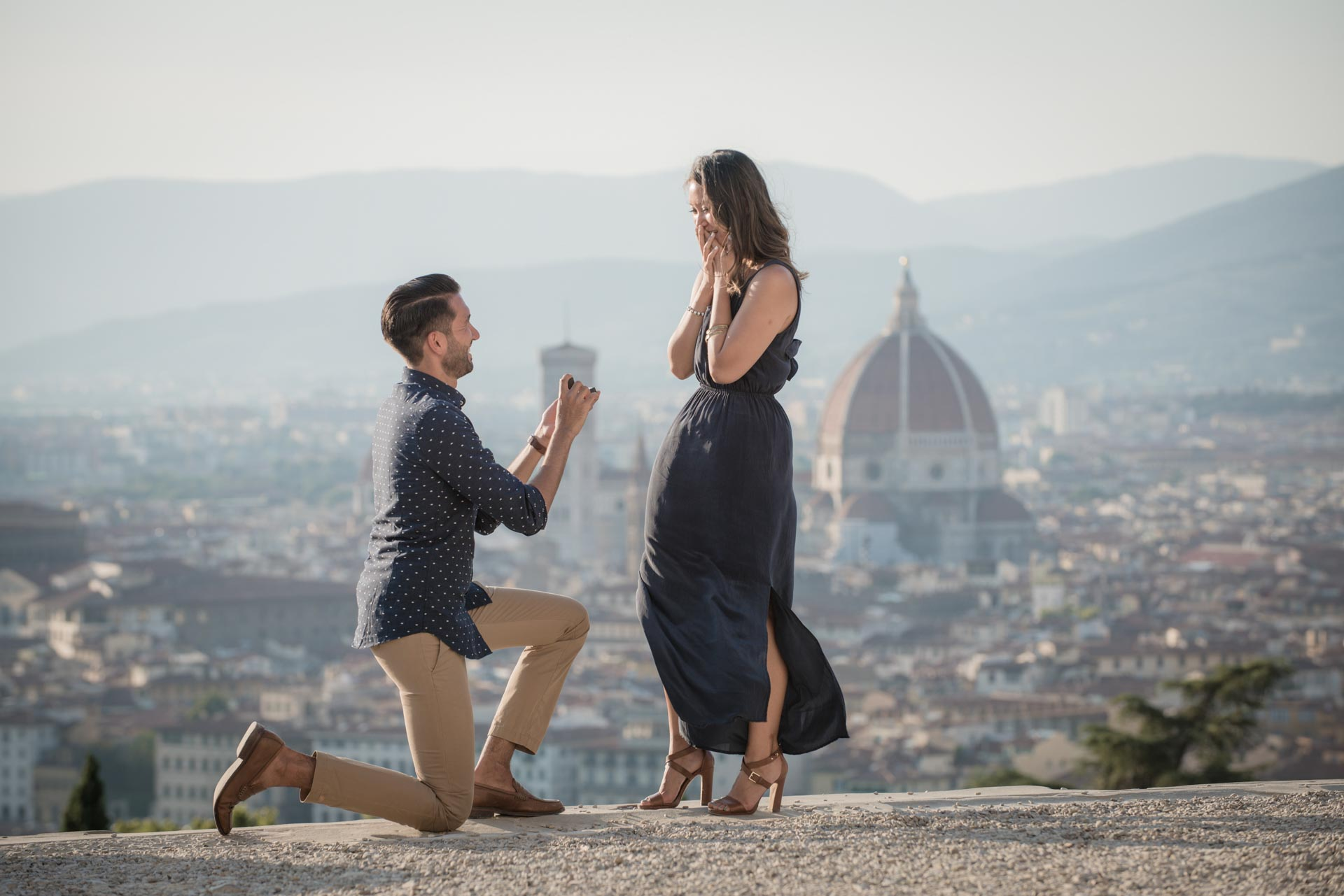 Surprise Proposal in Florence