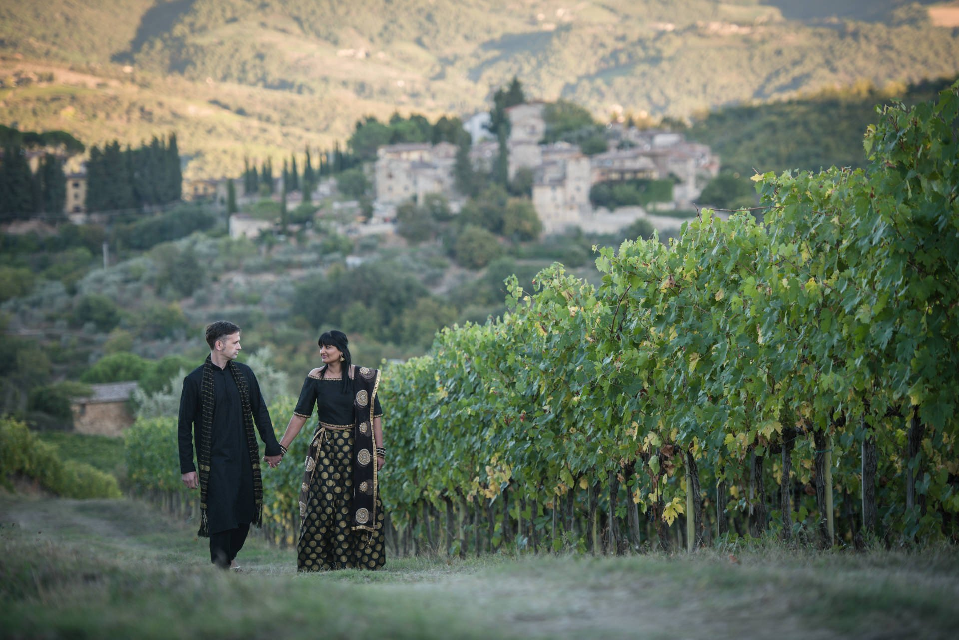 Indian Vow Renewal in the Tuscan Countryside